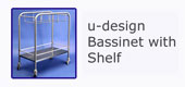 #18210 u-design Bassinet with Shelf