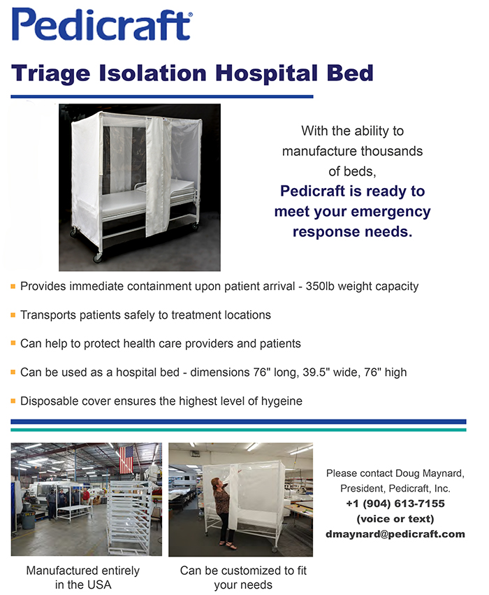 Pedicraft Triage Isolation Bed