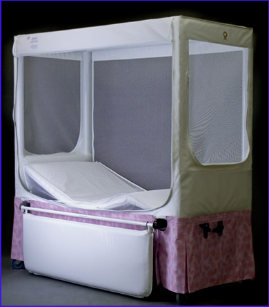 Offers the safety of an enclosed crib bed and a completely padded interior - no exposed metal parts. & Pedicraft