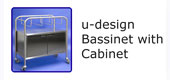 #18230 u-design Bassinet with Cabinet