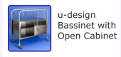 #18225 u-design Bassinet with open cabinet