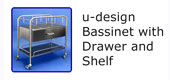 #18215 u-design Bassinet with drawer and shelf